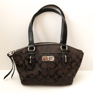 Coach small shoulder bag black fabric